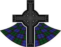 Schottisches keltisches Kreuz Stockbilder