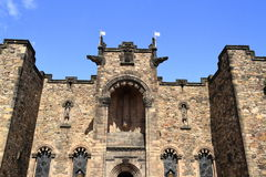 Schottisches nationales Kriegs-Denkmal in Edinburgh-Schloss Lizenzfreies Stockfoto