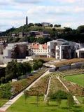 Schottisches Parlament und Calton Lizenzfreies Stockfoto