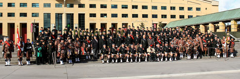 Schottisches Regiment 1 Torontos Stockfotografie
