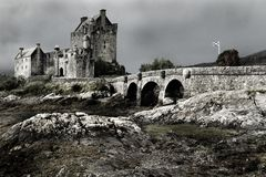 Schottisches Schloss in den Hochländern stockfotografie