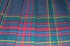 Schottisches Schottenstoffgewebe Lizenzfreies Stockbild