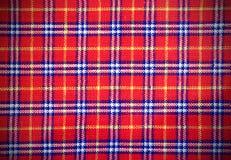 Schottisches Schottenstoffgewebe mit farbigen Rechtecken Lizenzfreie Stockfotografie