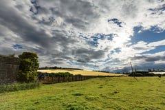 Schottland-Ackerland Stockfotografie