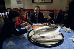 Schottland China Salmon Deal Lizenzfreie Stockfotografie