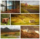Schottland-Collage Stockbilder