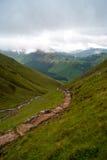 Schottland-Gebirgspfad Stockfotos