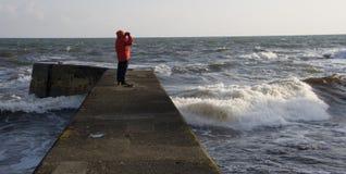 Schottland - heraus schauend zum Meer Stockbilder