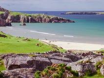 Schottland-Küstenliniennatur Stockfoto
