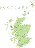 Schottland-Karte. Lizenzfreie Stockbilder