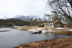 Schottland-Landschaft Glen Affric im Winter Lizenzfreie Stockfotos