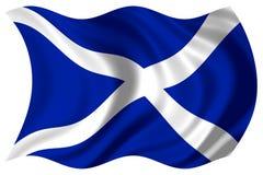 Schottland-Markierungsfahne getrennt Lizenzfreies Stockfoto