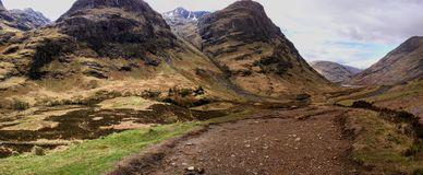 Schottland, nahe bei einem James Bond-Filmstandort Stockfoto
