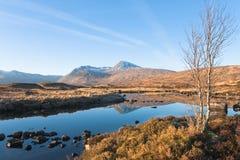 Schottland-Rannoch verankern im Winter stockfotografie