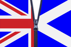 Schottland-Referendum-Reißverschluss Stockfotos