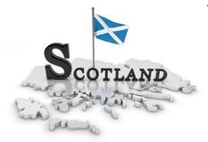 Schottland-Tribut lizenzfreie abbildung