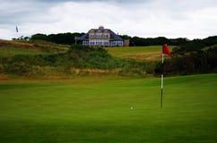 Schottland verbindet Art-Golfplatz stockfoto