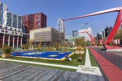 Schouwburgplein en Rotterdam Fotografía de archivo libre de regalías