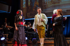 Schouwspel die Filharmonia Futura en M kenmerken Walewska - de Opera is het Leven stock foto's