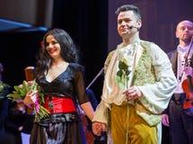 Schouwspel die Filharmonia Futura en M kenmerken Walewska - de Opera is het Leven, Stock Foto