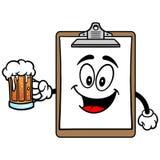 Schowek maskotka z piwem ilustracji