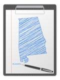 Schowka Alabama mapa ilustracji