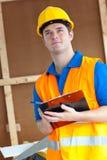 schowka mienia męski rozważny pracownik Obraz Stock