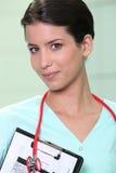 schowka pielęgniarki stetoskop Obraz Royalty Free