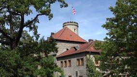 Schparrenburg kasztel w Bielefeld Flaga na wierza zdjęcie wideo