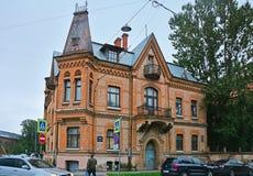 Schröter& x27; s豪宅在圣彼得堡,俄罗斯 免版税库存图片