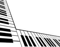 Schräg gelegene Klavier-Tastatur Stockfoto