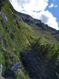 Schräge Ansicht des Berges Stockfoto