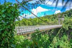 Schrägseilbrücke auf La Reunion Island lizenzfreies stockfoto