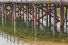 Schragen van de Visserij van Brug Stock Foto's