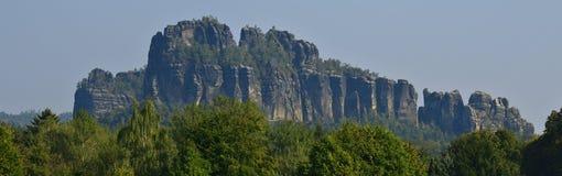 Schrammsteine in saxon switzerland stock photos