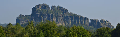 Schrammsteine ​​in saxon switzerland Stock Photos