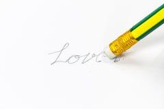 Schrap liefde Stock Fotografie