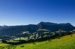 Schrattenfluh山Marbachegg谷恩特勒布赫,瑞士生物圈储备  库存图片