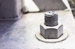 Schrauben, damit niedrige Beiträge die Struktur verstärken Lizenzfreies Stockbild