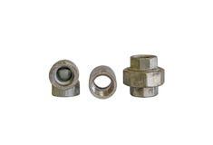 Schrauben-Verbands-Stahl stockfoto