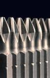 Schraubendreher-Bits in der Zeile Stockbild