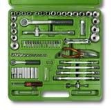 Schraubendreher, Schlüssel und Hammer auf weißem Hintergrund Lizenzfreies Stockbild