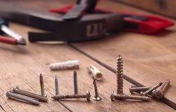 Schraubenwerkzeug vom verschiedenen Stockfotos