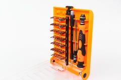 Schraubenzieher-Werkzeugsatz lokalisiert Lizenzfreies Stockfoto