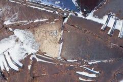 Schraubverbindung auf der Baustelle Teil des Baus eines Kunstgegenstandes lizenzfreies stockbild