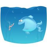 Schreckensendlosschraube auf Fischen Lizenzfreie Stockfotos