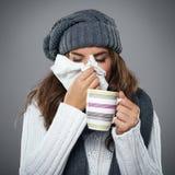 Schreckliche Grippe Stockbilder