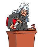 Schreckliche Richterkarikaturillustration Stockbild