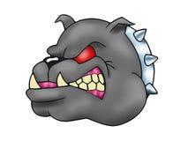 Schrecklicher Bulldoggekopf Lizenzfreie Stockfotografie