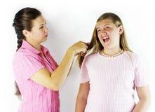 Schreckliches Haar-Auftragen lizenzfreie stockfotografie